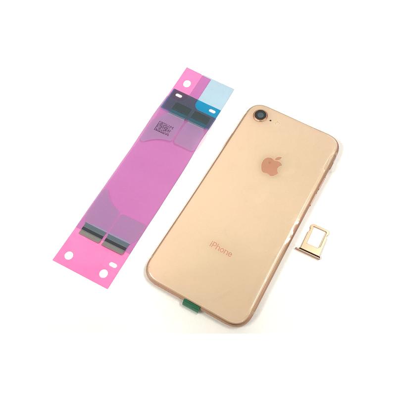 geh use mit elektronik akku klebe f r iphone 8 in rose. Black Bedroom Furniture Sets. Home Design Ideas