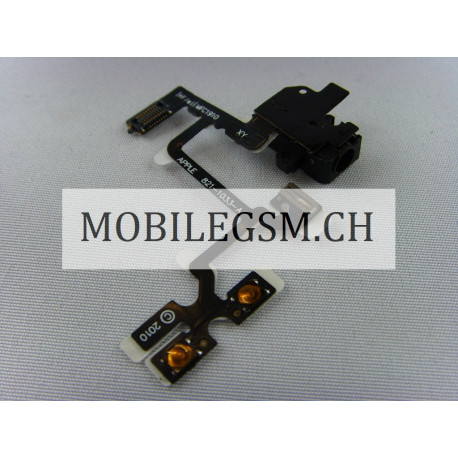 Headphone Audio Jack Flex Kabel iPhone 4 schwarz