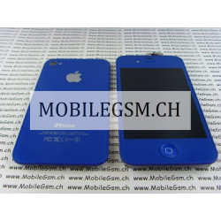 Lcd Display iPhone 4 Full Set mit Backcover  blau