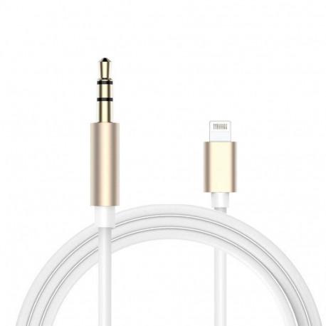 Lightning to 3,5 mm Audio Kabel für iPhone 7/7 PLUS (gold/weiss)