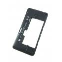 Nokia Lumia 635 Plastikschale Hinten (Mittelgehäuse) Schwarz mit Kameraglas