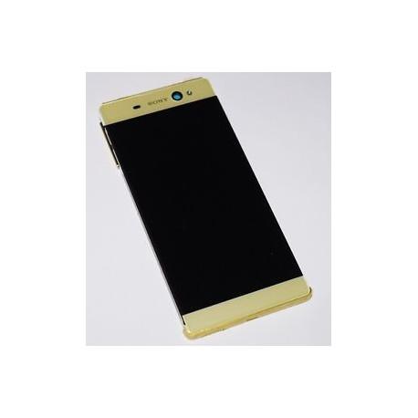 LCD Display Original mit Rahmen Gold Sony Xperia XA