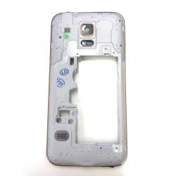OEM Mittel Rahmen in Gold für Samsung Galaxy S5 mini SM-G800F