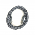 200 cm Datenkabel Ladekabel Type-C USB Kabel Nylon in Grau