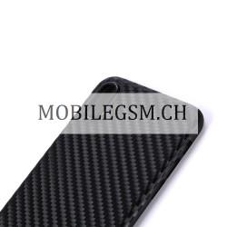 Schutzhülle, Etui für iPhone X Carbon Fiber Pattern in Schwarz