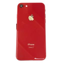 Gehäuse mit Elektronik + Akku Klebe für iPhone 8 in Rot